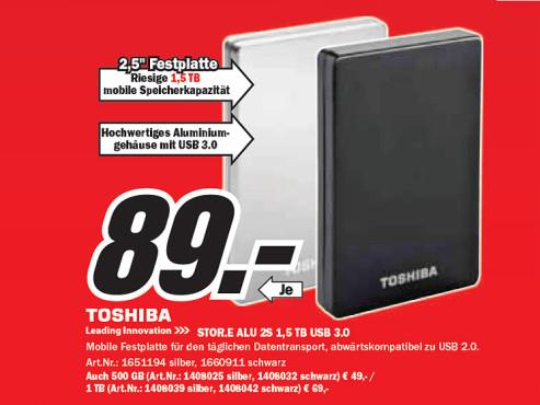 Toshiba STOR.E Alu 2S ©Media Markt