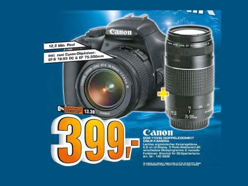 Canon EOS 1100D Kit 18-55 mm + 75-300 mm © Saturn