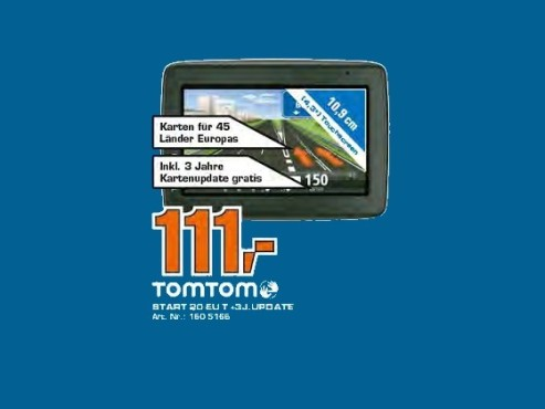 TomTom Start 20 Europe inkl 3 Jahren Kartenupdate © Saturn