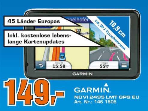 Garmin nüvi 2495LMT Europe © Saturn