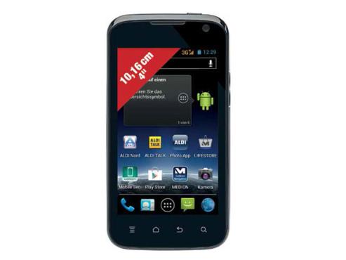 Android-Smartphone Medion Life P4013 ©Aldi