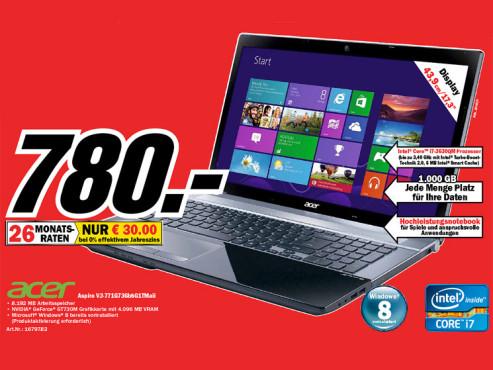 Acer Aspire V3-771G-736B8G1TMAII NX.M7REG.006 ©Media Markt
