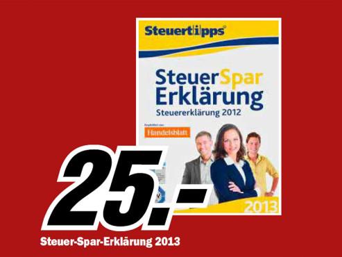 Akademische Arbeitsgemeinschaft Steuer-Spar-Erklärung 2013 (Win) (DE) ©Media Markt