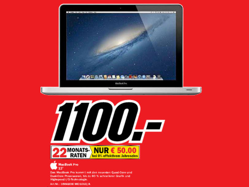 "Apple MacBook Pro 13"" (MD101D/A) © Media Markt"