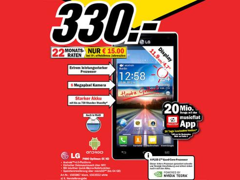 LG Optimus 4X HD ©Media Markt