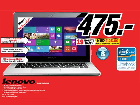 Lenovo IdeaPad U310 (MAG8R) ©Media Markt