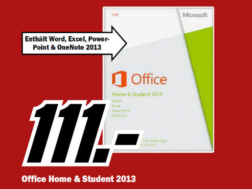 Microsoft Office Home and Student 2013 PKC (EDU) (Win) (DE) © Media Markt