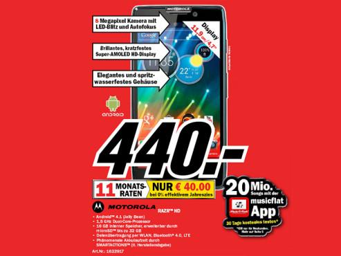 Motorola RAZR HD ©Media Markt