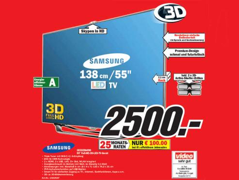 Samsung UE55ES8090 ©Media Markt