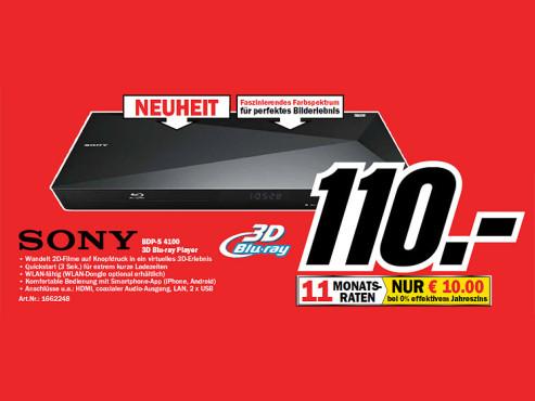 Sony BDP-S4100 ©Media Markt