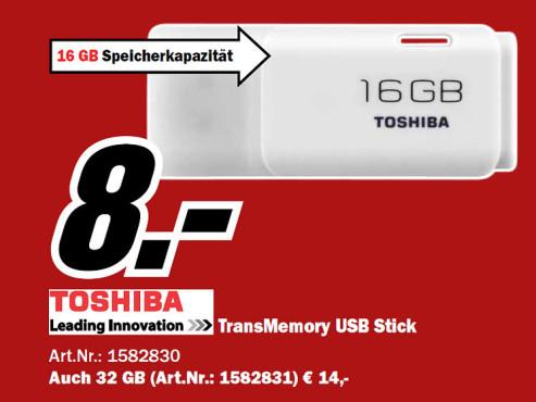 Toshiba HAYABUSA 16GB ©Media Markt