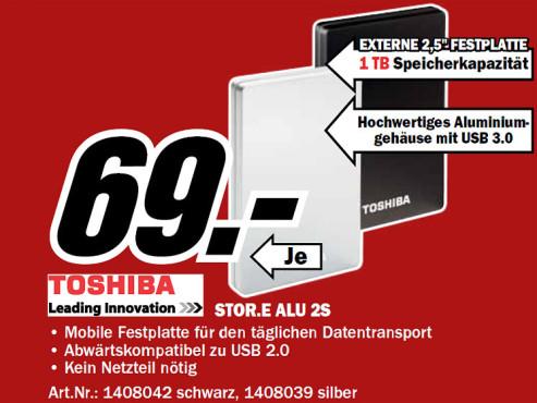 Toshiba StorE Alu 2S 1TB 2.5 ©Media Markt
