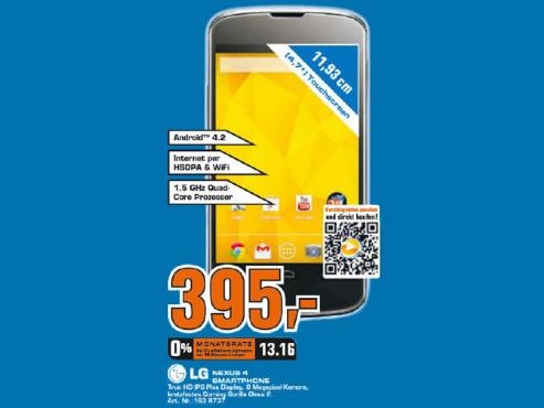 LG Google Nexus 4 ©Saturn