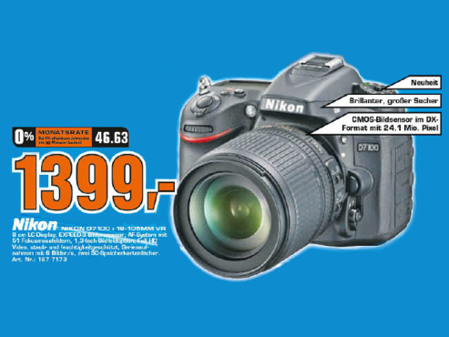 Nikon D7100 Kit 18-105 mm © Saturn