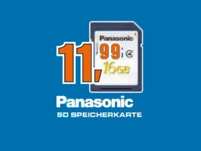 Panasonic SDHC 16GB Class 4 (RP-SDLB16GAK) ©Saturn