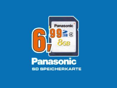 Panasonic SDHC 8GB Class 10 (RP-SDRA08GE1K) ©Saturn