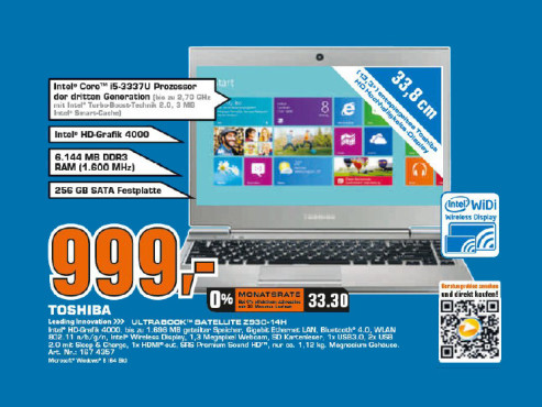 Toshiba Satellite Z930-14H © Saturn