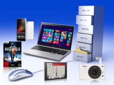 Produktfinder ©Spectral-Design - Fotolia.com, Sony, EA, Navigon, Nikon