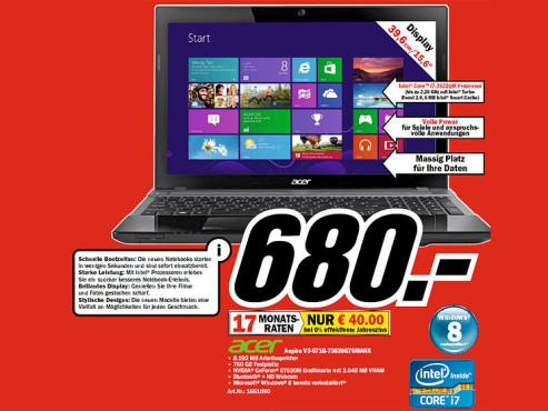 Acer Aspire V3-571G-73638G75MAKK ©COMPUTER BILD