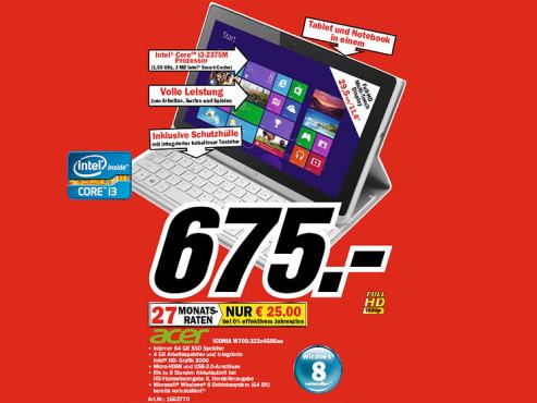 Acer Iconia Tab W700 (NT.L0QEG.001) ©COMPUTER BILD