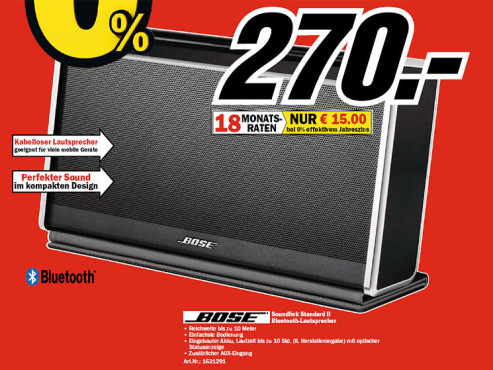 Bose SoundLink Bluetooth Mobile Speaker II © COMPUTER BILD
