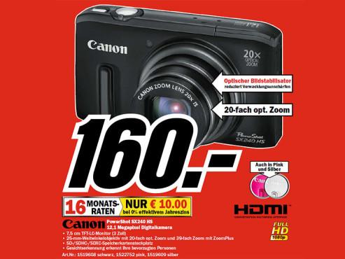 Canon PowerShot SX240 HS ©COMPUTER BILD