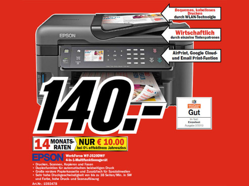 Epson WorkForce WF-3520DWF © COMPUTER BILD
