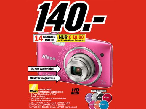Nikon Coolpix S3500 ©COMPUTER BILD