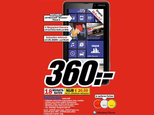 Nokia Lumia 820 ©COMPUTER BILD