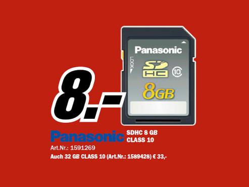 Panasonic SDHC Silver 8GB Class 10 (RP-SDRB08GAK) ©COMPUTER BILD