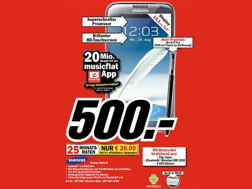 Samsung Galaxy Note 2 ©COMPUTER BILD