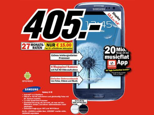 Samsung Galaxy S3 ©COMPUTER BILD