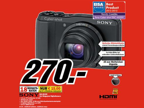 Sony Cyber-shot DSC-HX20V ©COMPUTER BILD