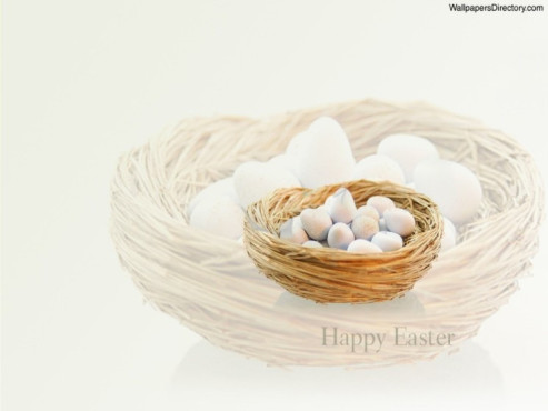 Free Happy Easter Screensaver © WallpapersDirectory.com