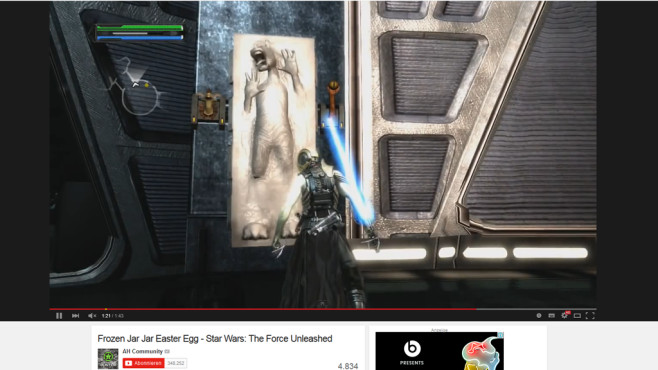 SW – The Force Unleashed: Jar-Jar Bings Easteregg © Activision