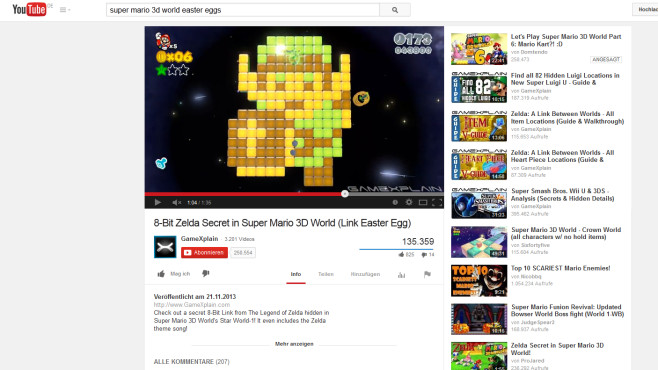 Super Mario 3D World: Zelda © Nintendo/ GameXplain
