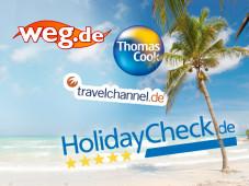 Test: Reisen online buchen ©fotolia.com - Tom-Hanisch, Thomas Cook Touristik GmbH, KG Travel Overland Flugreisen GmbH & Co., HolidayCheck AG, COMVEL GmbH