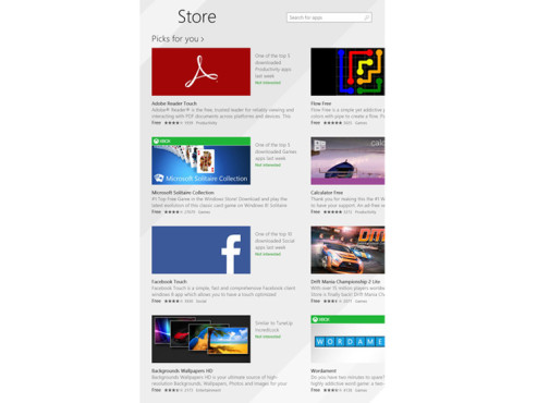 Hochkant: Windows Store unter Windows 8.1 © COMPUTER BILD