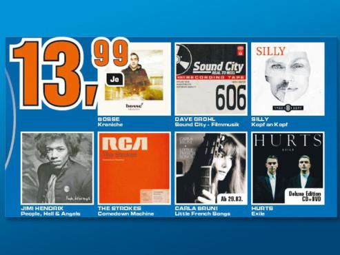 CDs mit Musik-Neuheiten ©Saturn
