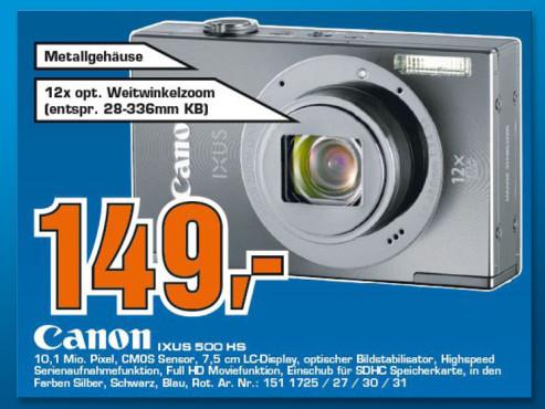 Canon IXUS 500 HS ©Saturn