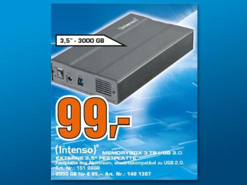 Intenso Memory Box USB 3.0 3T ©Saturn