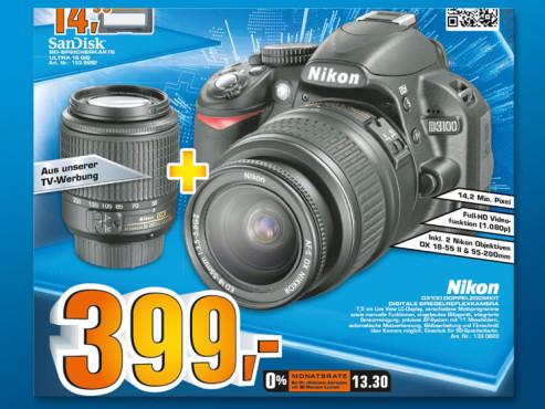 Nikon D3100 Kit 18-55 mm + 55-200 mm ©Saturn