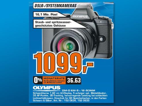 Olympus OM-D E-M5 Kit 12-50 mm ©Saturn