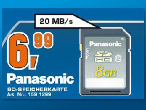Panasonic SDHC Silver 8GB Class 10 (RP-SDRB08GAK) ©Saturn