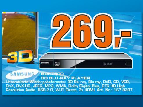 Samsung BD-F7500 ©Saturn