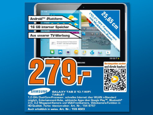 Samsung Galaxy Tab 2 (10.1) ©Saturn