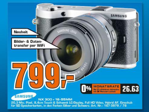 Samsung NX300 Kit 18-55 mm ©Saturn