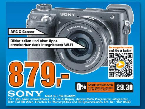 Sony Alpha NEX-6 Kit 16-50mm (NEX-6L) ©Saturn