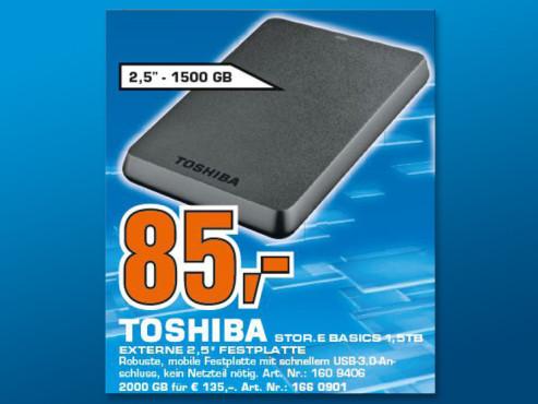 Toshiba Stor.e Basics 1.5TB ©Saturn
