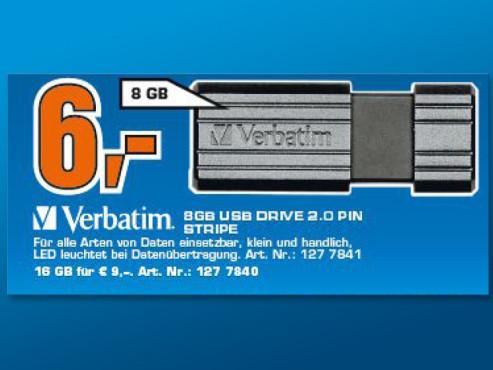 Verbatim Store 'n' Go PinStripe 8GB Black ©Saturn